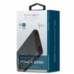 Power Bank Crown Black 10000 mAh 2USB 2.1A