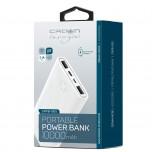 Power Bank Crown White 10000 mAh 2USB 2.1A