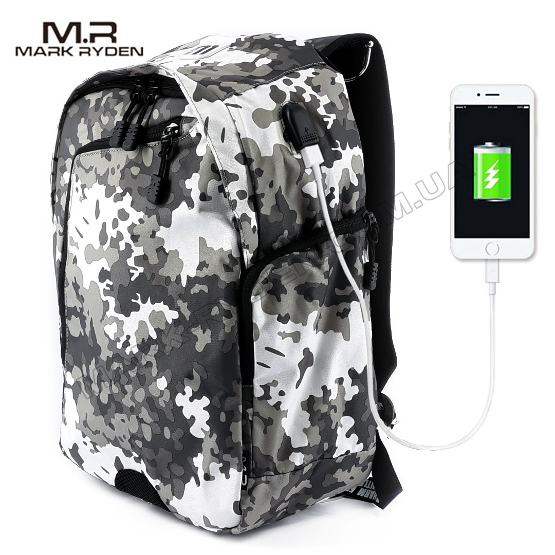 Рюкзак Mark Ryden Allroad MR6001  CamouflageUSB White