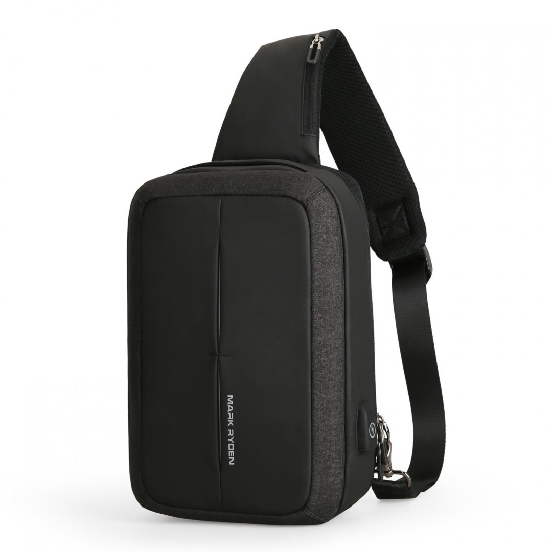 Backpack with one strap Mark Ryden MiniCase MR7011 BlackUSB