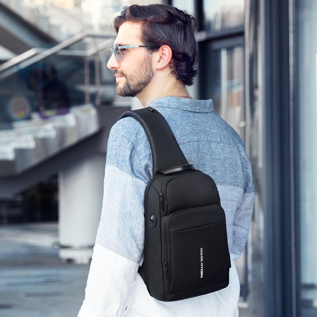 Рюкзак с одной лямкой Mark Ryden MiniMax MR7618 Black