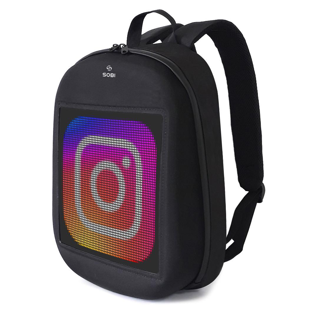 Backpack with LED screen Sobi Pixel SB9702 Black