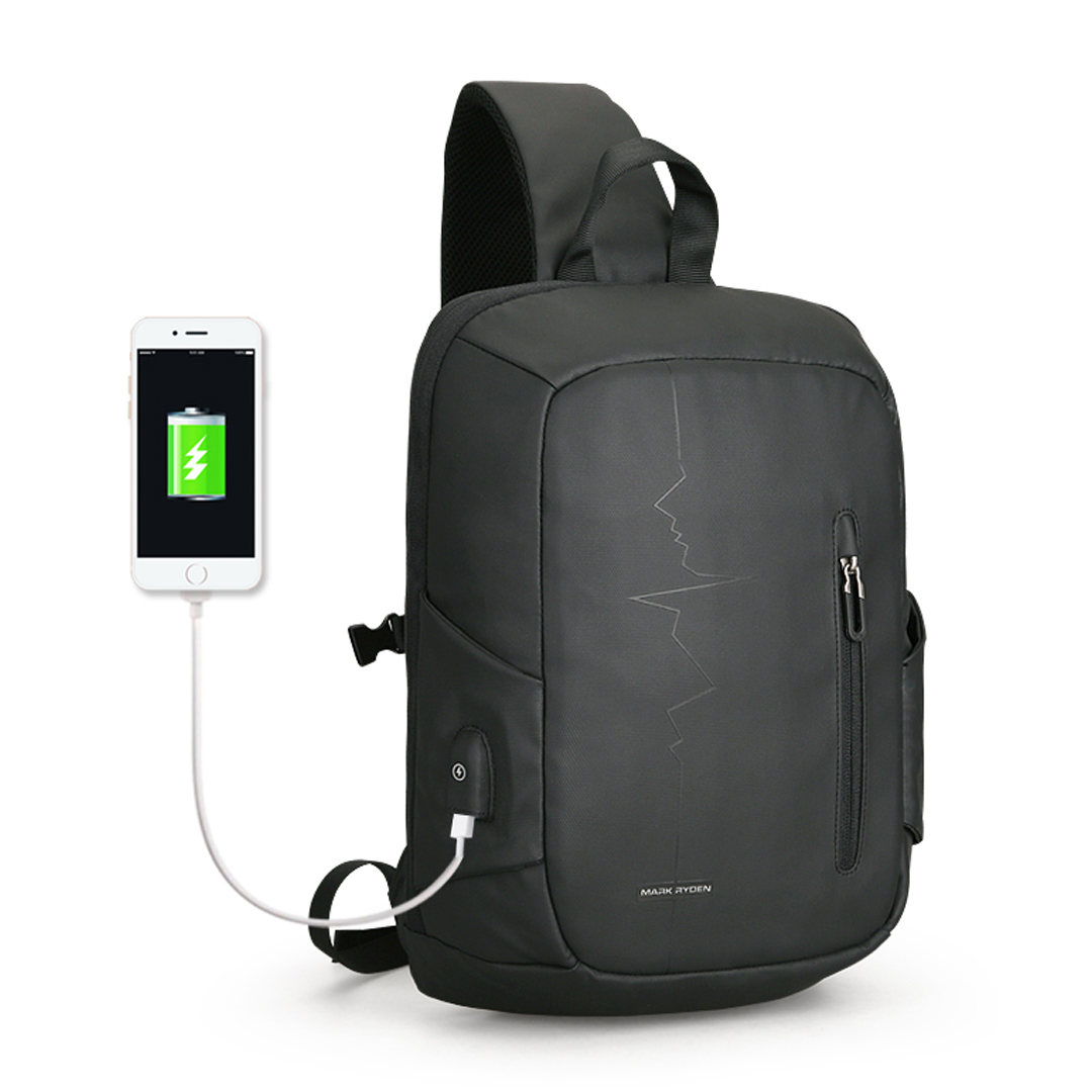 Backpack with one strap Mark Ryden Minipulse MRK9087 Black