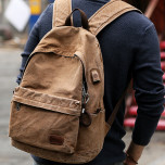 Backpack Muzee ME1718 Khaki