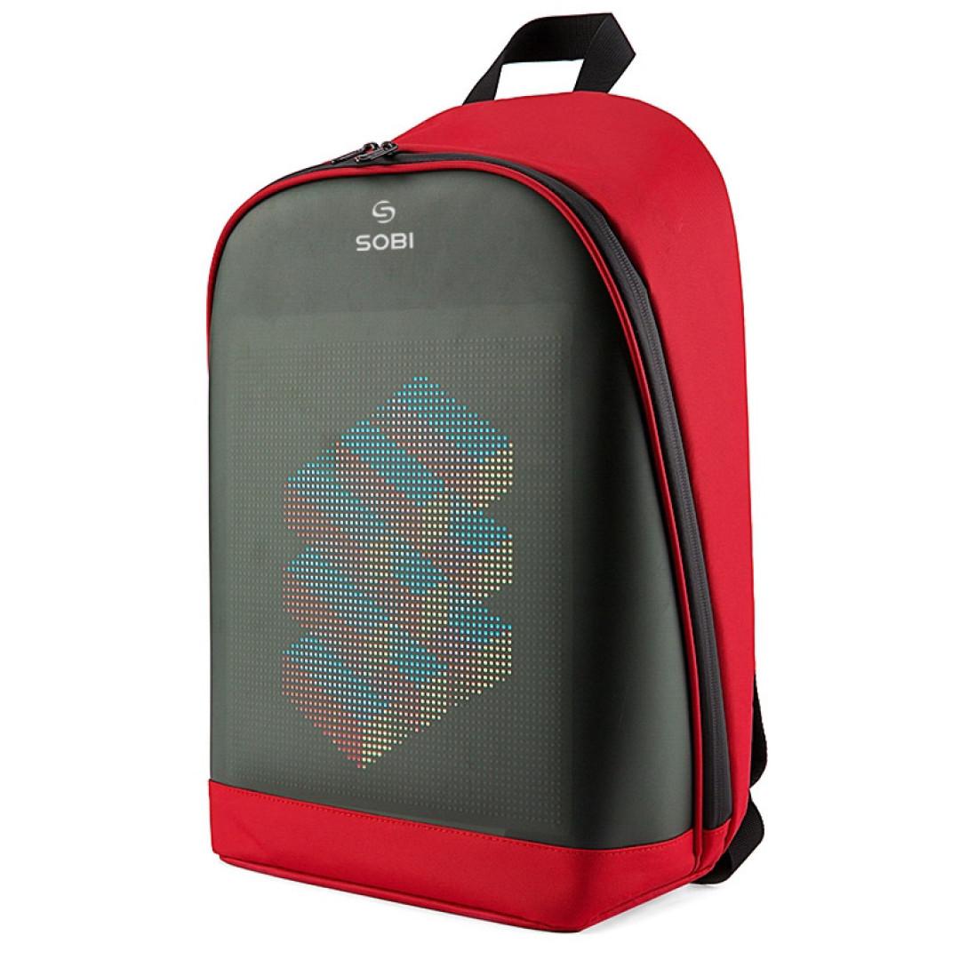 Рюкзак Sobi Pixel Plus SB9707 Red з LED екраном