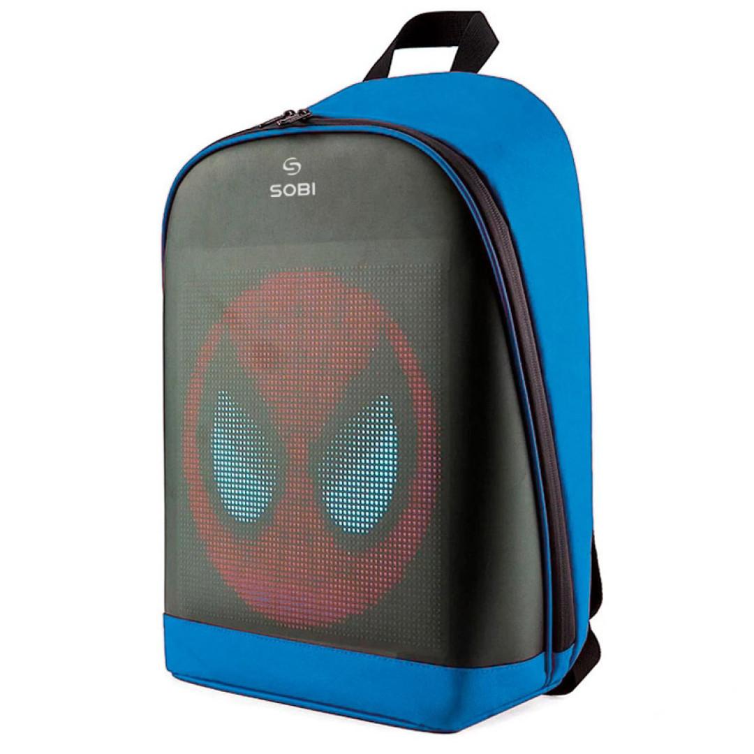 Рюкзак Sobi Pixel Plus SB9707 Blue з LED екраном