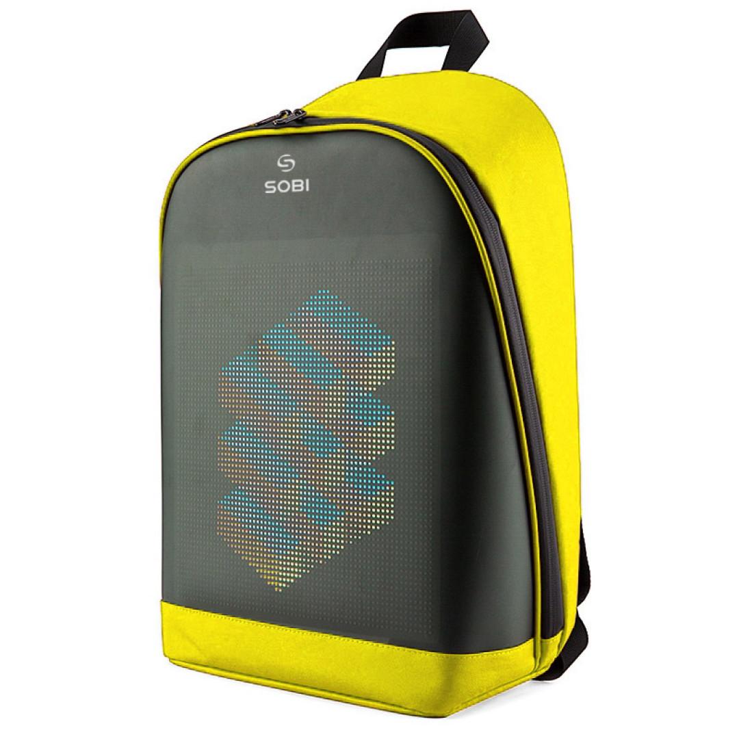 Рюкзак Sobi Pixel Plus SB9707 Yellow з LED екраном