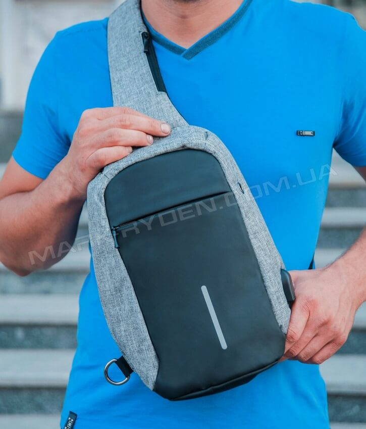 Backpack with one strap MR5898 Minibobby Black