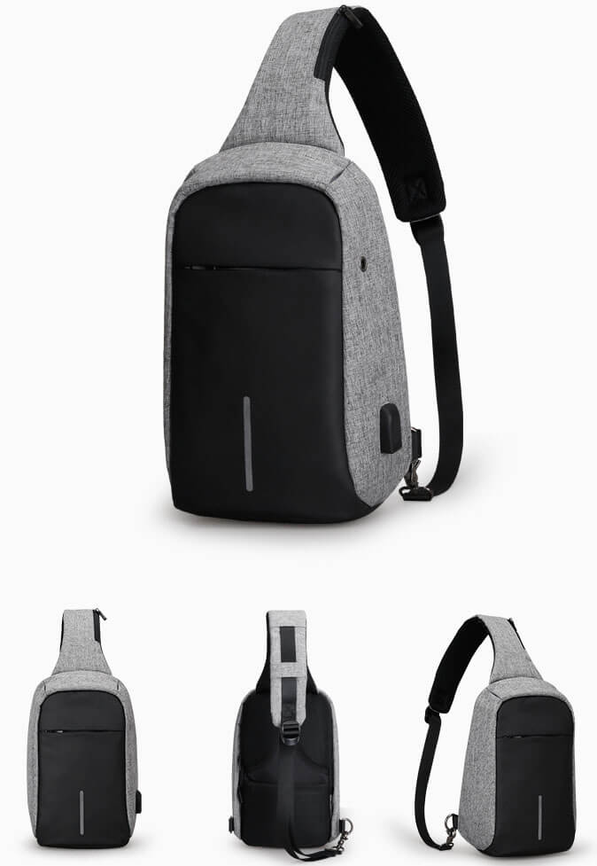 Backpack with one strap Mark Ryden Minibobby MR5898 Gray